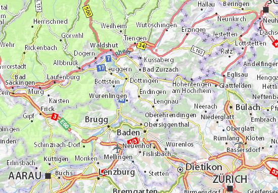Karte Stadtplan Endingen