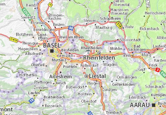 Karte Stadtplan Kaiseraugst