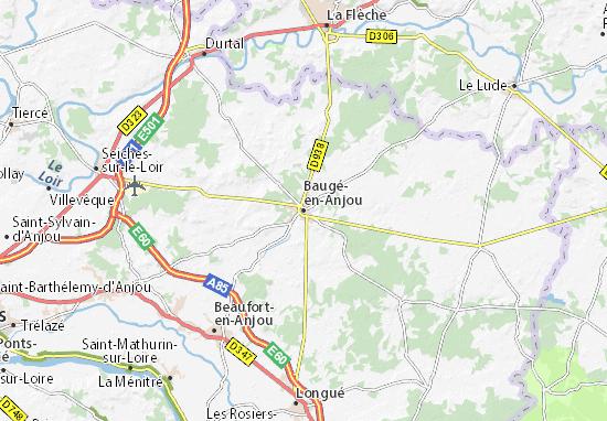 Carte-Plan Baugé-en-Anjou