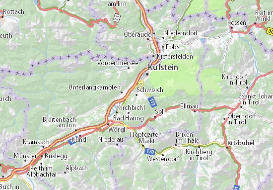 Karte Stadtplan Schwoich