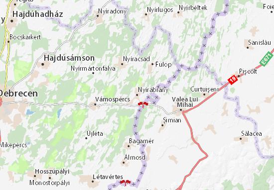 Mapa Plano Nyírábrány