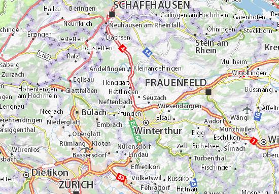 Karte Stadtplan Hettlingen