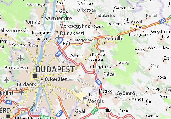 Kistarcsa Map