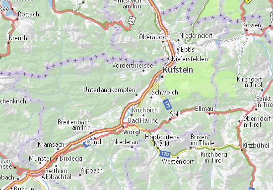 Karte Stadtplan Unterlangkampfen