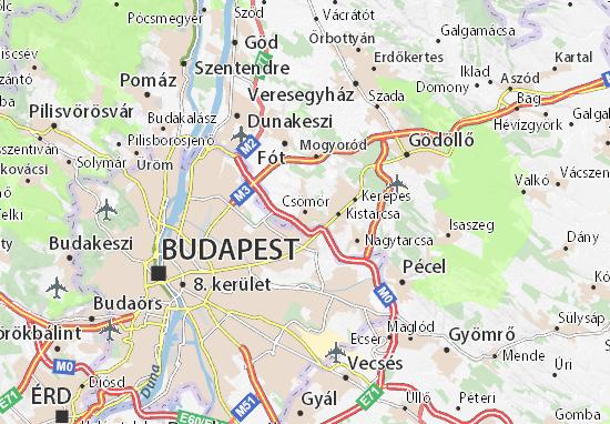 Csömör Map
