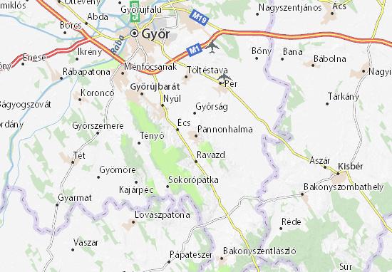 Mapas-Planos Pannonhalma