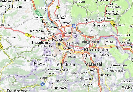 Karte Stadtplan Birsfelden