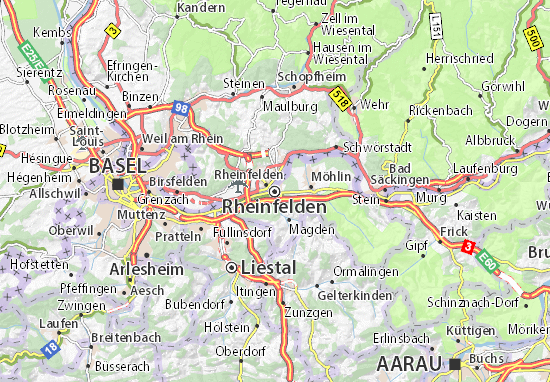 Carte-Plan Rheinfelden