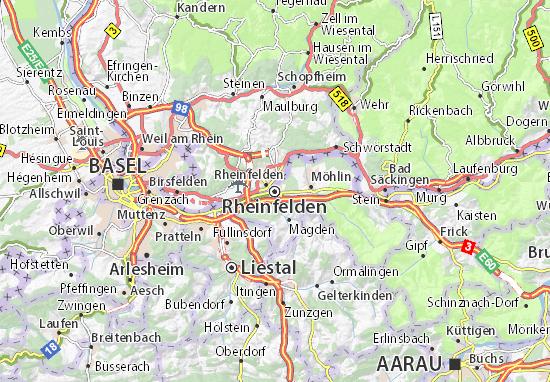 Karte Stadtplan Rheinfelden