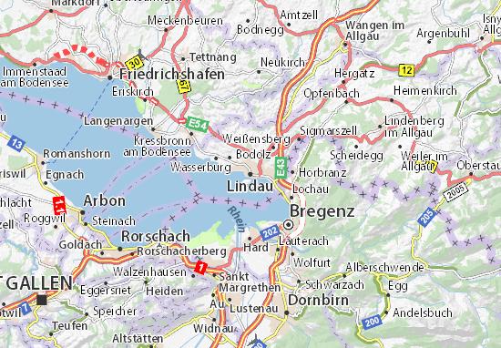 Karte Stadtplan Lindau