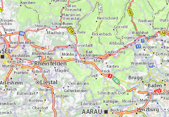 Carte-Plan Bad Säckingen