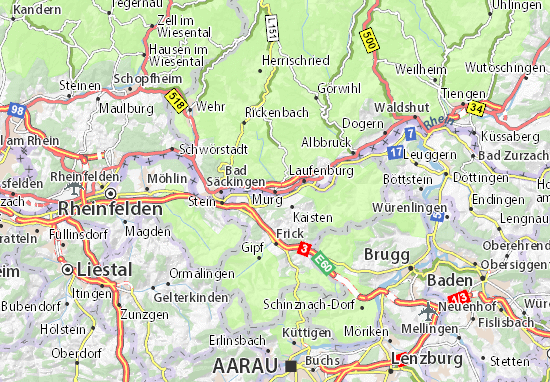 Karte Stadtplan Murg