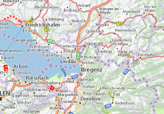 Hörbranz Map