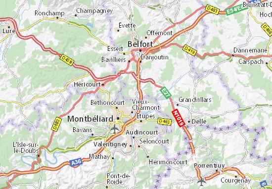 Karte Stadtplan Châtenois-les-Forges