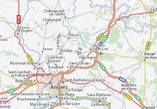 Mapa Plano Villevêque