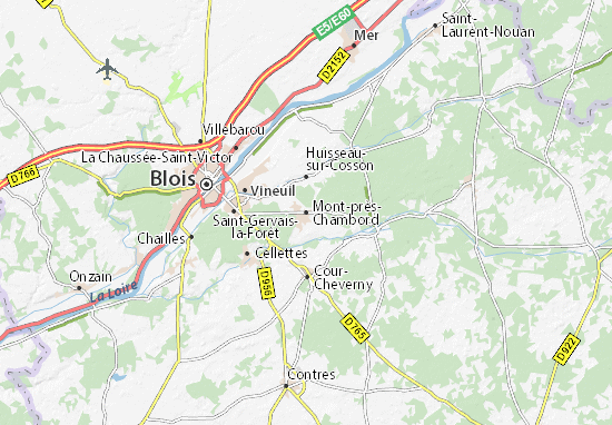 Karte Stadtplan Mont-près-Chambord