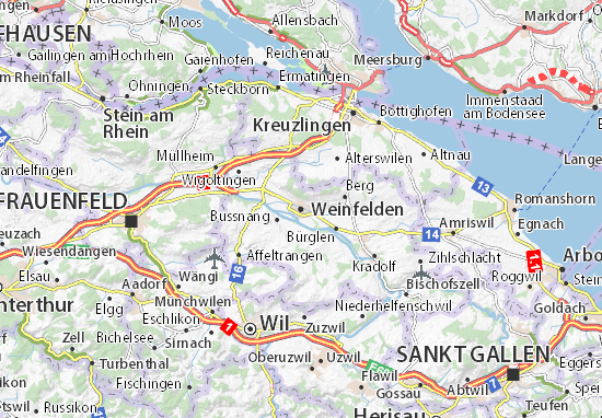 Carte-Plan Weinfelden