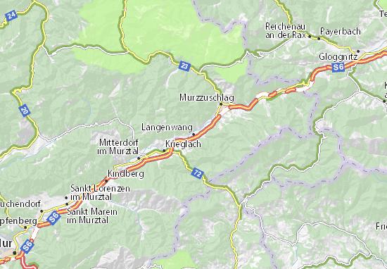 Mapa Plano Langenwang