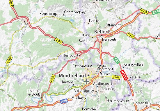 Mapas-Planos Héricourt