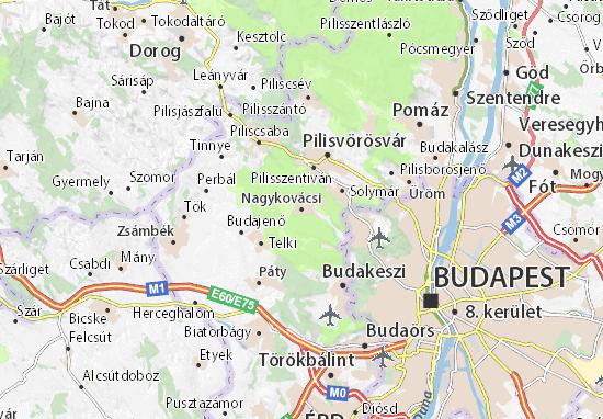 Kaart Plattegrond Nagykovácsi