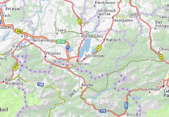 Karte Stadtplan Schwangau