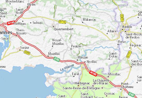 Péaule Map