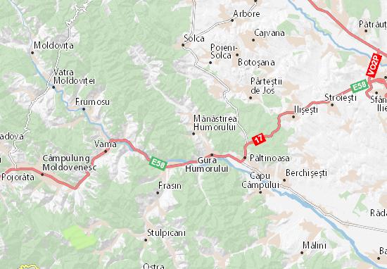 Mapas-Planos Mănăstirea Humorului