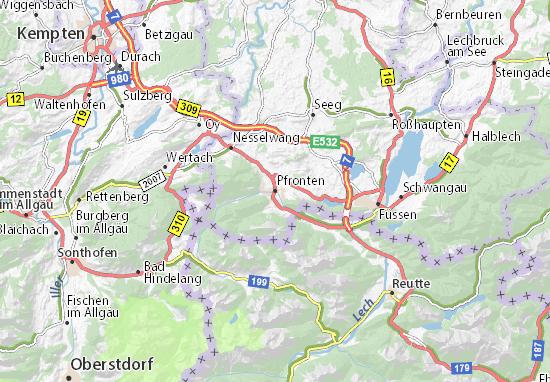 Pfronten Map
