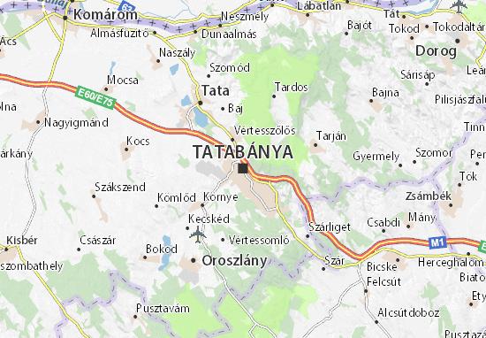 Kaart Plattegrond Tatabánya