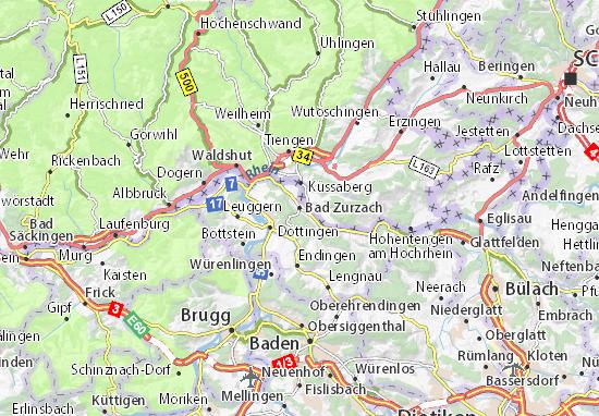 Karte Stadtplan Bad Zurzach
