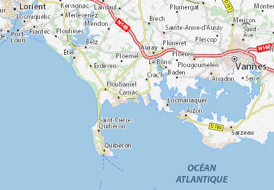 Carte la trinit sur mer vacances arts guides voyages - Office du tourisme de la trinite sur mer ...