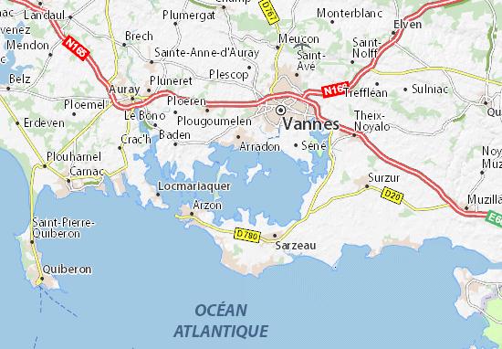 Ile-d'Arz Map