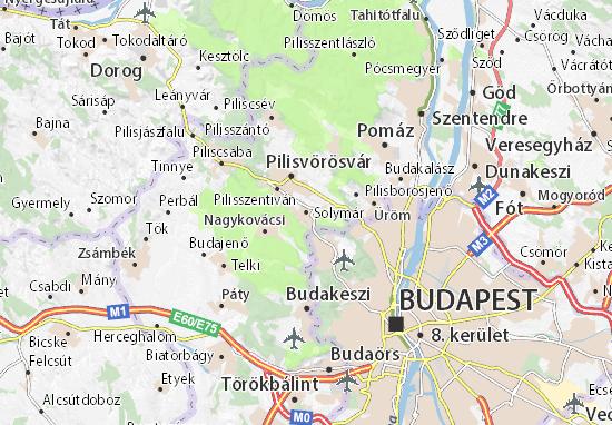Karte Stadtplan Solymár
