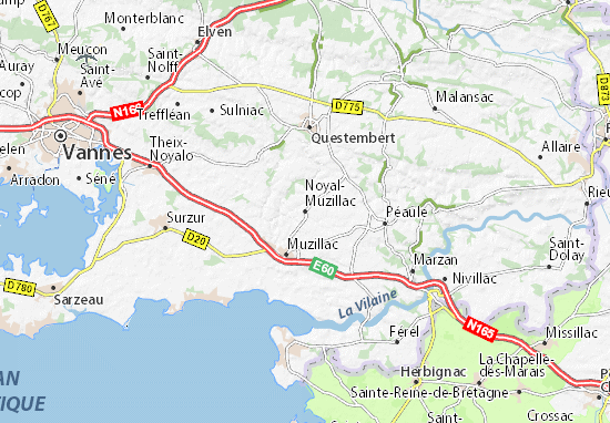 Noyal-Muzillac Map