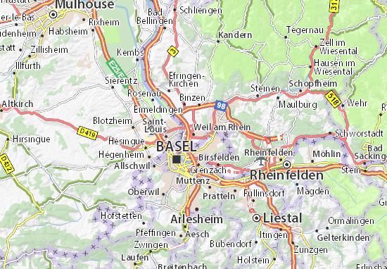 Weil am Rhein Map