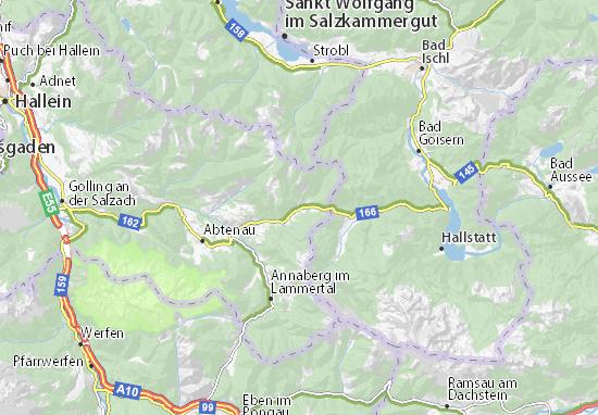 Salzkammergut Karte.Karte Stadtplan Russbach Am Pass Gschutt Viamichelin