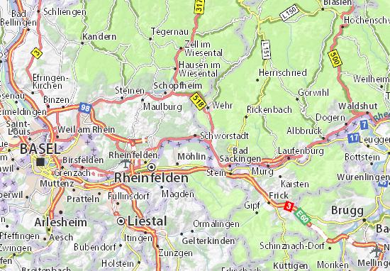 Carte-Plan Schwörstadt