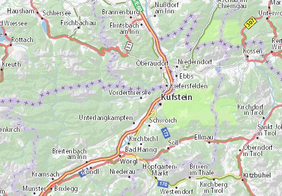 Karte Stadtplan Vorderthiersee