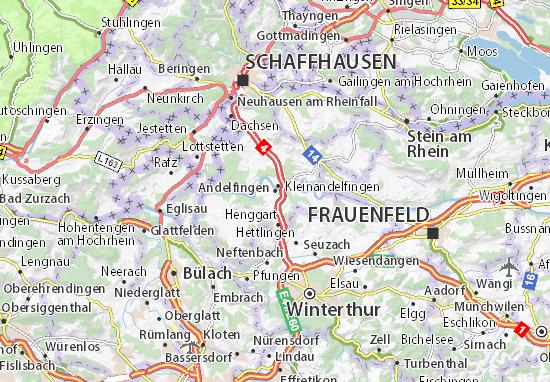 Karte Stadtplan Andelfingen