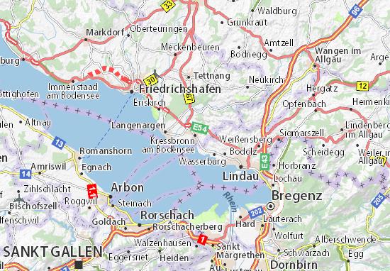 Map of Kressbronn am Bodensee - Michelin Kressbronn am