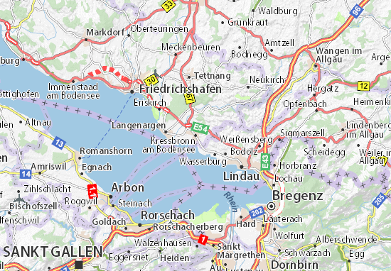 Carte-Plan Kressbronn am Bodensee