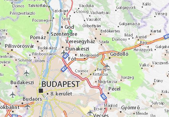 Mogyoród Map