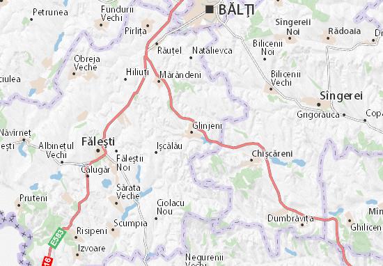 Glinjeni Map