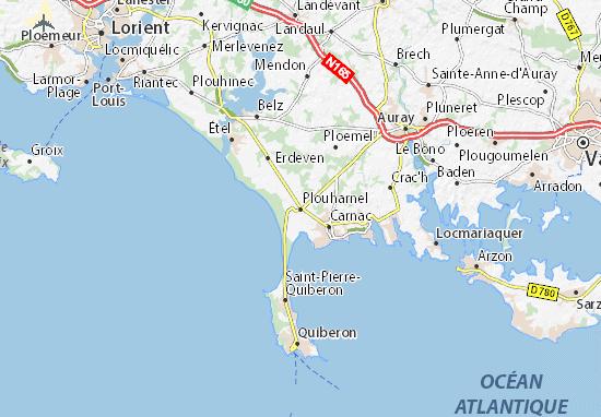 Karte Stadtplan Plouharnel