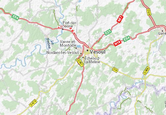 Kaart Plattegrond Échenoz-la-Méline