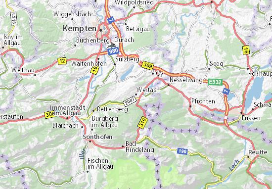 Wertach Map