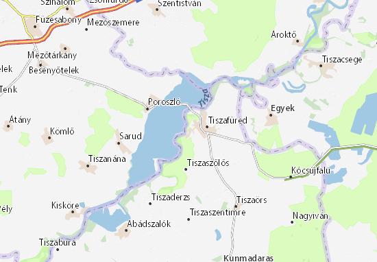 Tiszaörvény Map