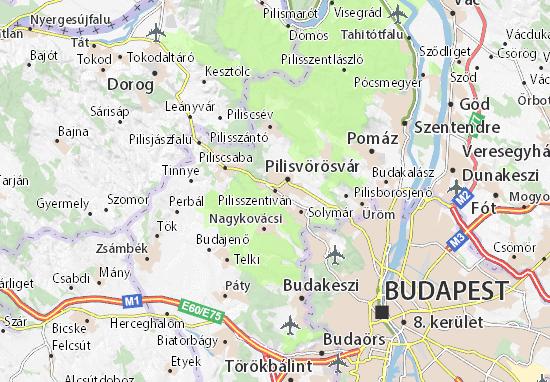 Pilisszentiván Map