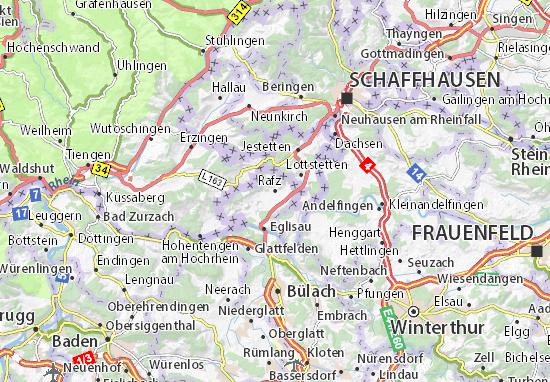 Karte Stadtplan Rafz