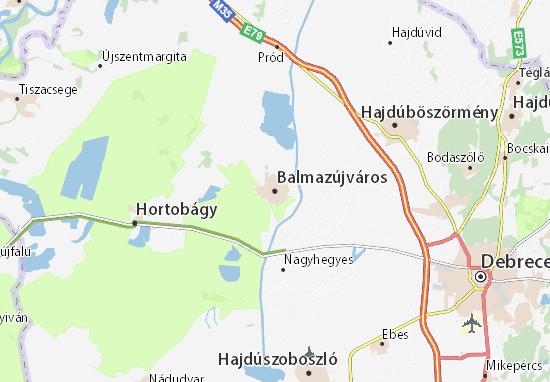 Balmazújváros Map